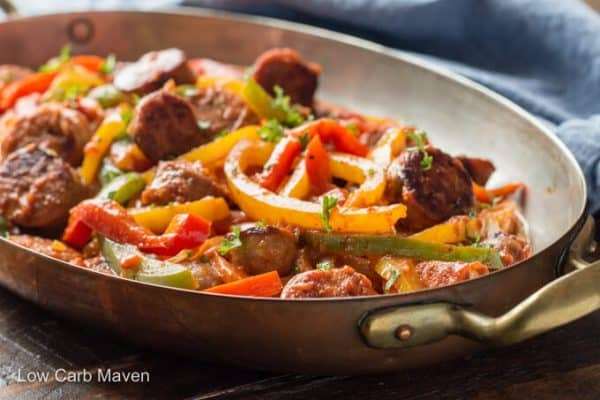 SAUSAGE PEPPERS ONION KETO DINNER RECIPES
