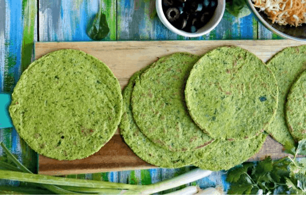 KETO SPINACH TORTILLA