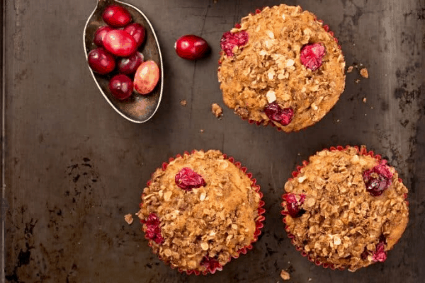 cranberry oatmeal muffin