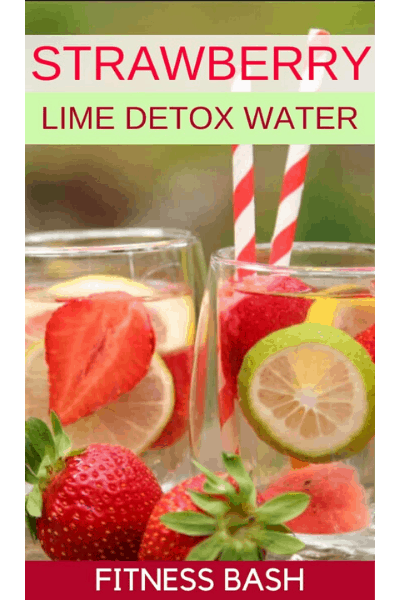 STRAWBERRY LIME DETOX WATER