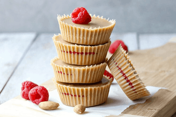 Keto Raspberry Almond Cups