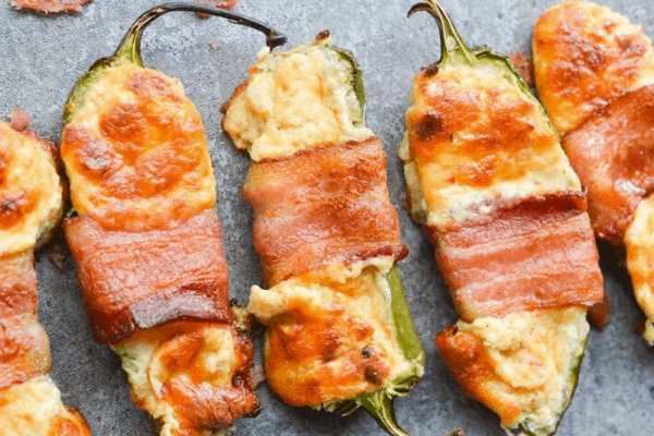 Bacon-Wrapped Jalapeno Poppers