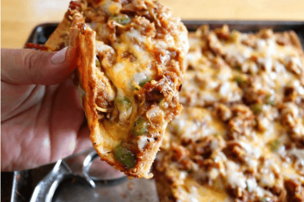 KETO FATHEAD PIZZA- BBQ PULLED PORK