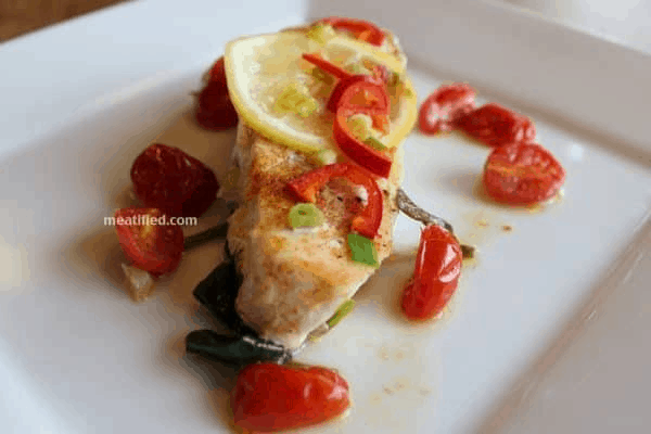 BAKED HALIBUT WITH LEMON AND THAI CHILLI