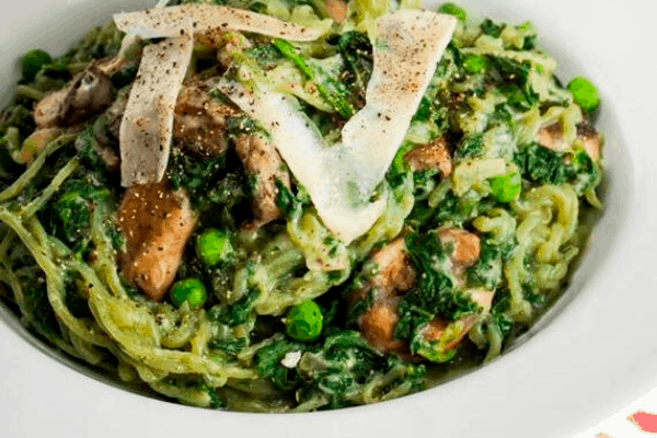 SPINACH PASTA FOR A VEGETARIAN KETOGENIC DIET