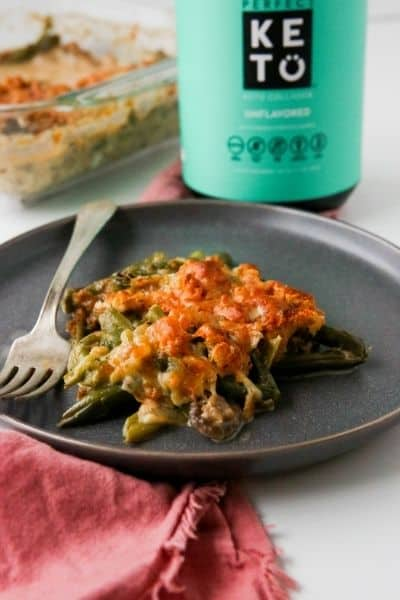 GREEN BEAN CASSEROLE WITH CRUSHED PORK RINDS