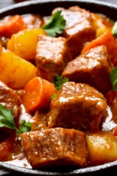 LOW-CARB BEEF STEW WITH THICKENER