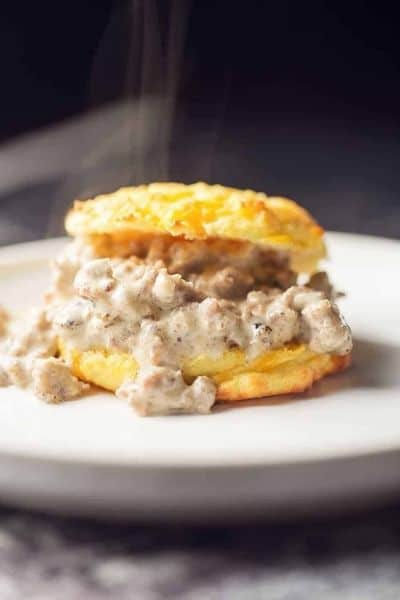 KETO BISCUITS WITH GRAVY